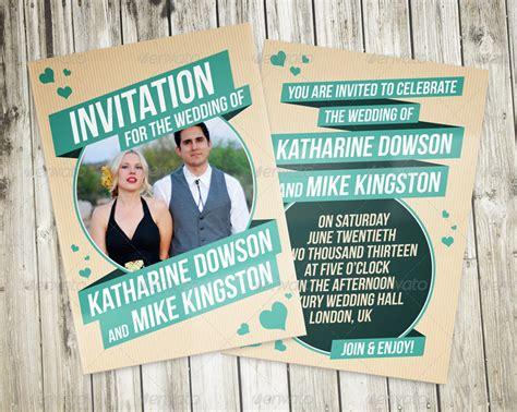 Retro Wedding Invitations by Retro Wedding Invitation By Vinyljunkie Graphicriver