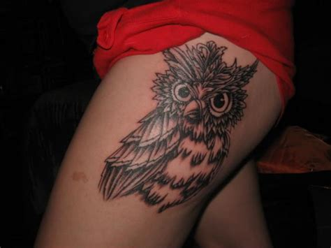 small thigh tattoos for women owl tattoos designs ideas and meaning tattoos for you