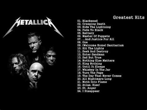 the best of metallica metallica greatest hits
