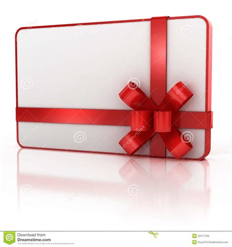Blank Gift Cards - blank gift card with red ribbon stock illustration image 23117750