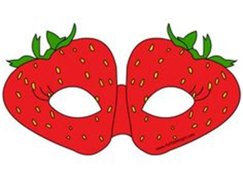 Masker Images Strawberry Fruit Mask Masker Buah Images vegetable printable masks carrot mask broccoli mask artichoke cauliflower ribbon week