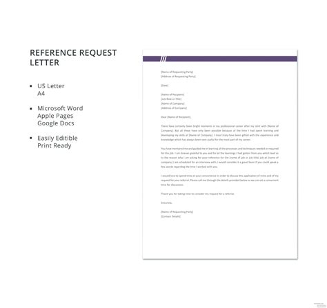 reference request letter template microsoft word