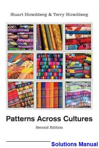 pattern classification solution manual for 2nd edition patterns across cultures 2nd edition hirschberg solutions