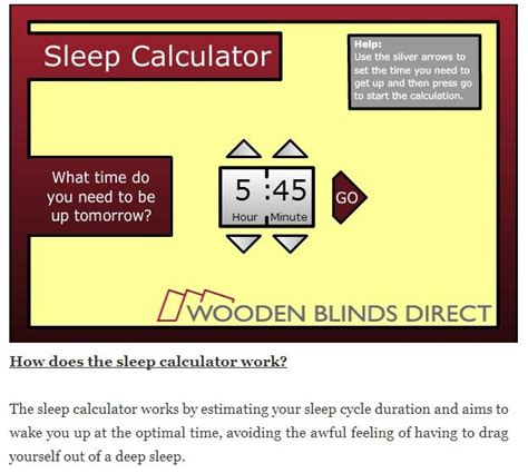what time should you go to bed a really useful sleep calculator that tells you what time