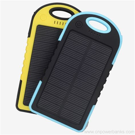 Power Bank Solar Waterproof solar power bank waterproof power banks with carabiner