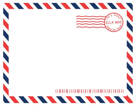 printable envelope borders personal stationery airmail at minted com