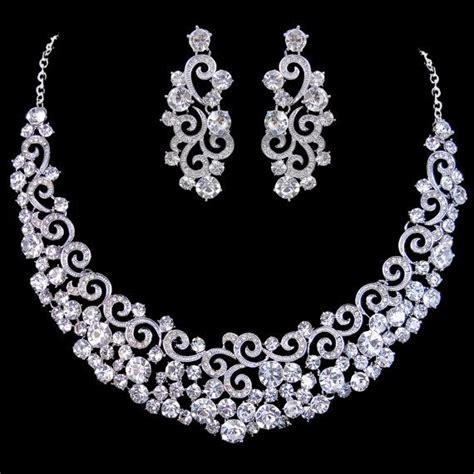 jewelry set vintage inspired swarovski bridal jewelry set by
