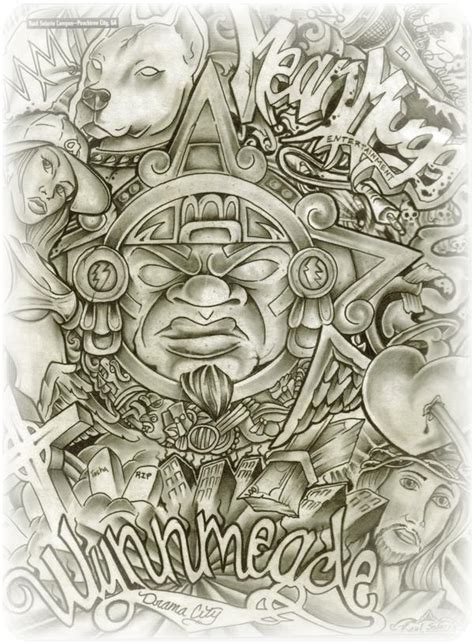 pin aztec lowriderarte tattoos on pinterest
