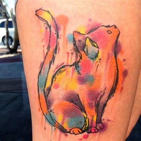 watercolor tattoos cat 17 best ideas about watercolor cat on