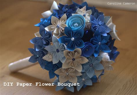 How To Make Bouquet Of Paper Flowers - diy kusudama paper flower bouquet caroline cameron