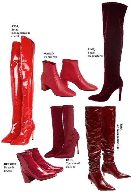 imagenes de botas rojas esta temporada tus estilismos se van a complementar con