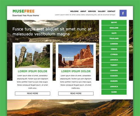 muse themes gallery 33 best adobe muse free themes images on pinterest adobe