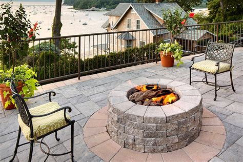 Shale Patio by Techo Bloc Pavers And Walls Center Of Va
