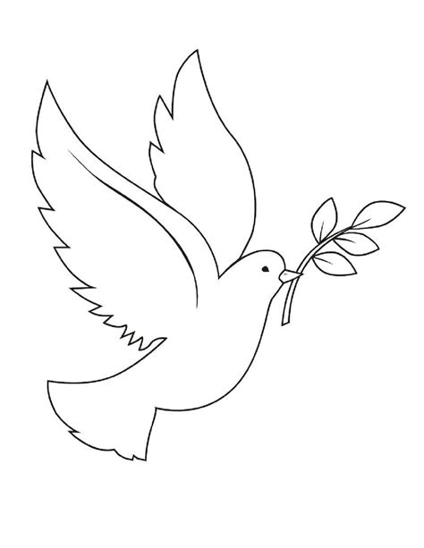Free Printable Christmas Coloring Pages Adult Peace Dove Coloring Page