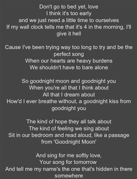 Lyrics Apartment Song Goodnight Moon Go Radio I Want These Lyrics Printed