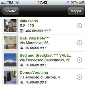 bed and breakfast app la nuova applicazione per iphone di bed and breakfast it