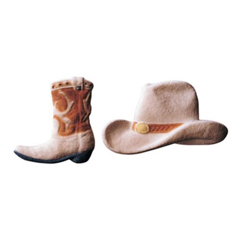 Cowboy Boots Cake Decorations by Lucks Cowboy Hat And Boot Sugar Decorations