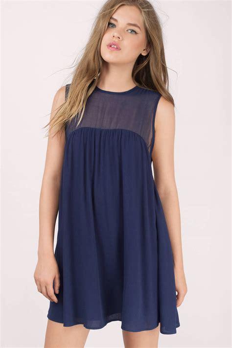Flowy Blue Sarfana 1 navy day dress blue dress flowy dress 26 00