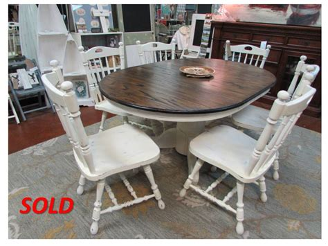Refinishing Dining Room Table by Refinished Solid Oak Pedestal Table With Matching Chairs