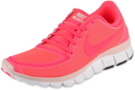 nike shoes pink nike free 5 0 v4 w shoes pink white
