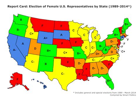 House Of Reps Number Gender Equality In The Us House A State By State Quarter