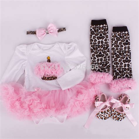 Jumpsuit Baby Pink Leopard newborn baby romper dress clothes white pink