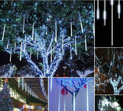 how to make raining lights in a tree 110v 220v 50cm led meteor shower lights outdoor ip65 l tree decoration