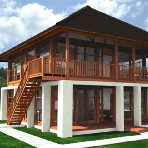 desain rumah panggung beton 71 desain rumah kayu dan beton contoh desain rumah
