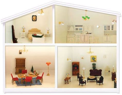 dolls house battery operated lights 1000 images about maisons de poup 233 es lundby on pinterest