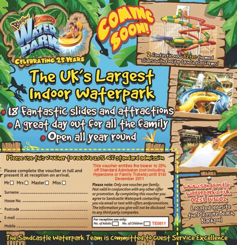 printable vouchers blackpool 25 off at sandcastle waterpark