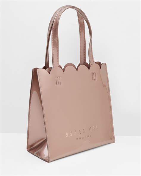 Tas Import Pink Bag2554 ted baker scallop edge large shopper bag in pink lyst