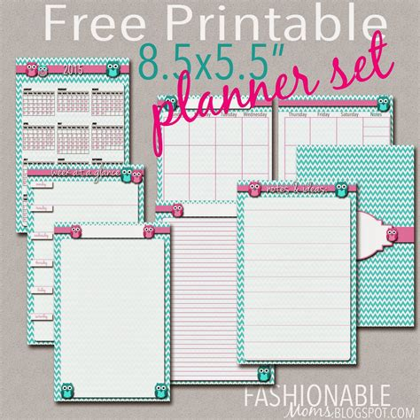 free printable planner pages for moms free printable half page owl planner set updated for 2017