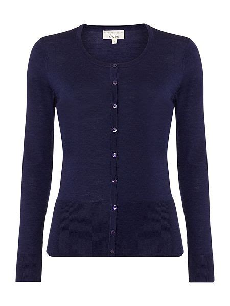 Linea Machine Washable Merino Ls Cardigan House Of Fraser