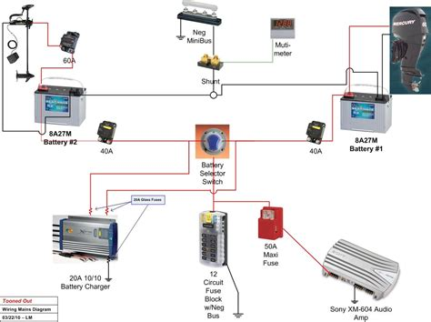 sailboat battery system wiring diagram get free image