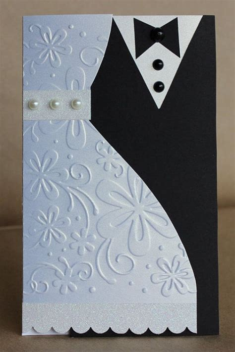 Wedding Card With Money by And Groom Wedding Greeting Card This Handmade Card