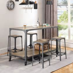industrial kitchen island set casual dining sets