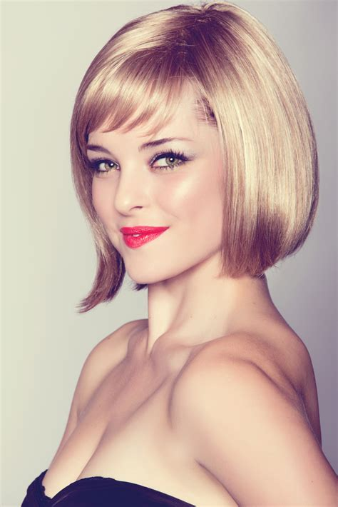 chin length hairstyles 2015 pics of tapered layered bob with bangs short hairstyle 2013