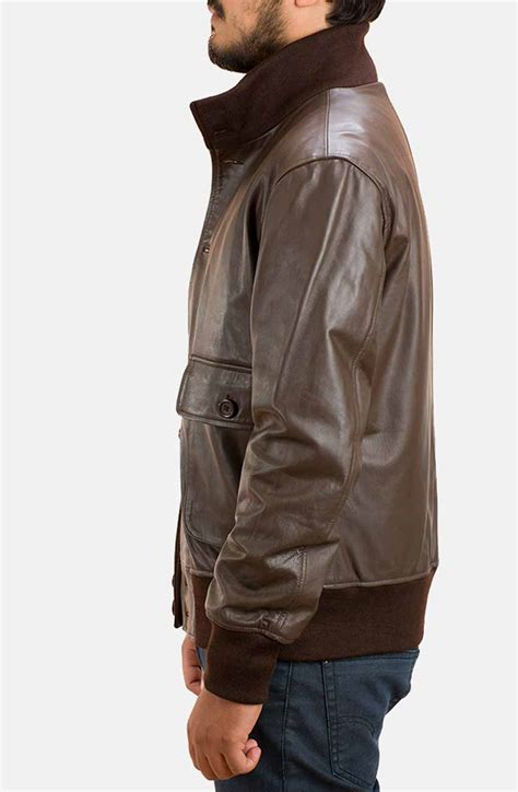 Jaketexpress Boomber Brown Jacket Boomber columbus brown bomber jacket in biker style jacket