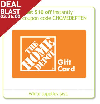 Home Depot Gift Card Amazon - home depot 40 for a 50 gift card limited time few hours faithful provisions