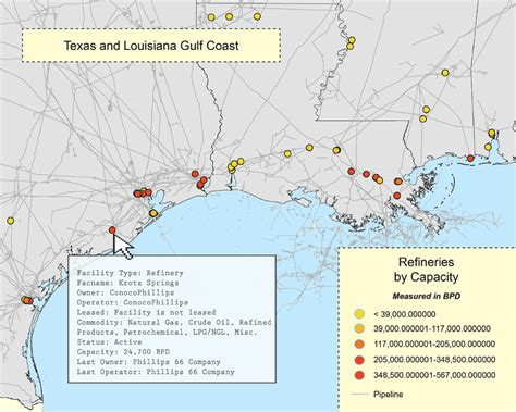 texas refineries map refineries mapsearch