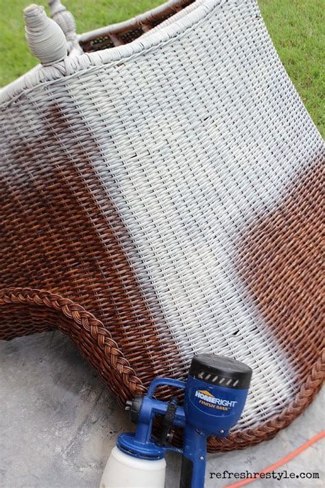 spray painting wicker how to spray paint wicker refresh restyle