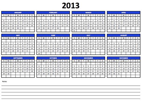 2013 yearly calendar template numbers 2013 yearly calendar template free iwork templates