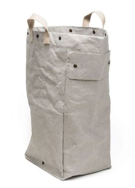 Washable Paper Laundry Bag Light Grey Uashmama Washable Laundry
