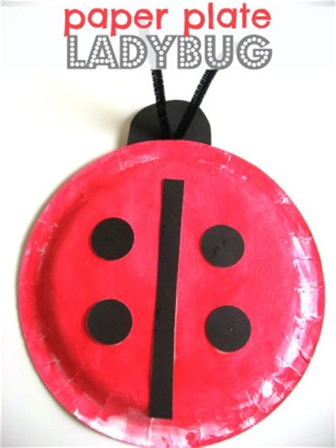 How To Make A Paper Ladybug - bug craft no time for flash cards