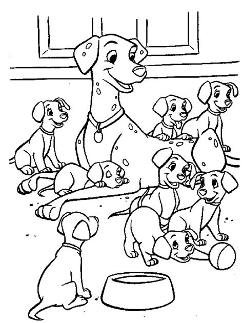disney 101 dalmatians coloring pages