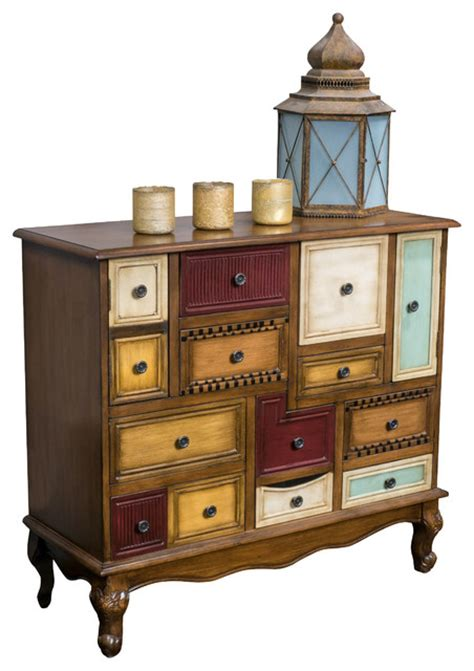 accent chest of drawers leo multicolor wood chest of drawers cabinet eclectic