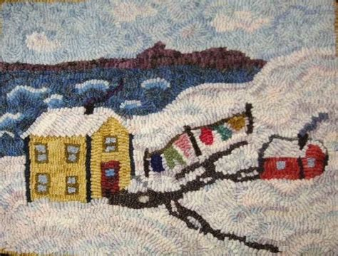 joan foster rug hooking laundry lines hooked mat