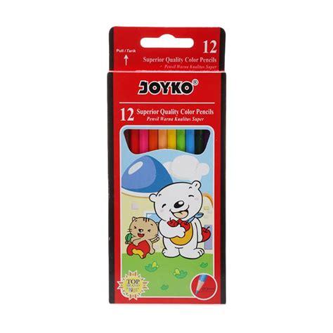 Pensil Warna Esco 12 Warna jual joyko cp 12pb pensil warna 12 pcs harga kualitas terjamin blibli
