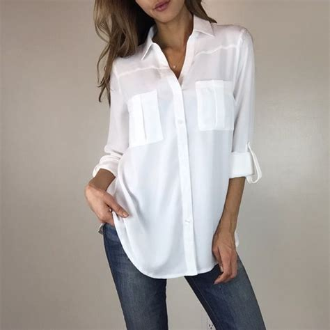 White Blous white sheer button up blouse www pixshark images