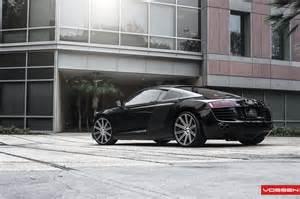 audi r8 gets custom concave vossen wheels autoevolution